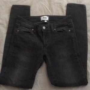 Paige Verdugo Ultra Skinny Jeans in charcoal grey!